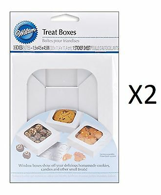 Wilton Treat Boxes Set 3 Clear Window Cake Dessert For Cookies Treats (2-Pack)