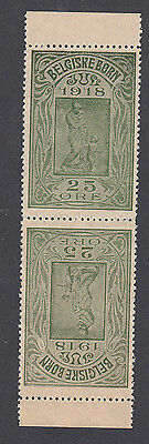 Denmark Poster Stamps  BELGIUM CHARITY AID 1918