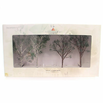 Department 56 Accessory SPRING-SUMMER TREES Polyresin Seasons Bay 53382
