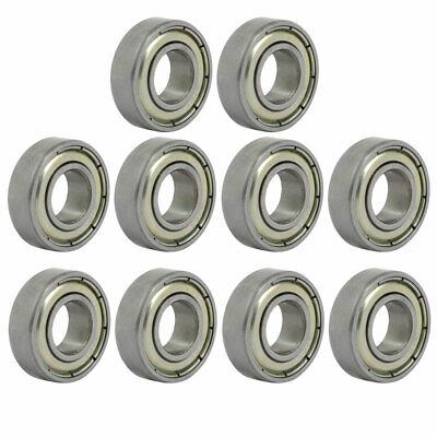 699ZZ Steel Shielded Deep Groove Ball Bearings Silver Tone 20mmx9mmx6mm 10pcs