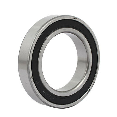 6010RS Double Rubber Sealed Deep Groove Ball Bearings Silver Tone 80mmx50mmx16mm