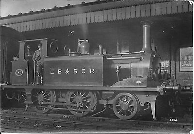"""LBSCR No.81 """"BEULAH"""" STROUDLEY 'A' 0-6-0T - KEMP TOWN STATION BRIGHTON pre-1909"""