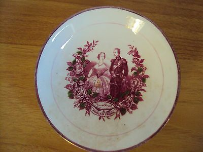 Princess Victoria/Prince of Prussia Commemorative Wedding Lustre Saucer/Bowl1858
