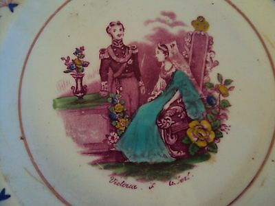 Queen Victoria/Prince Albert Commemorative Wedding  Plate of 10th February 1840