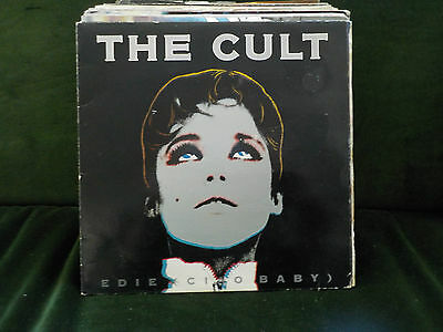 "The Cult Edie (Ciao Baby) / Bleeding Heart Graffiti 1989 Goth Rock Pop 7"" Vinyl"