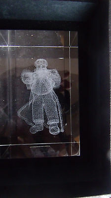 Crystal Clear Collectables Laser Art Santa Christmas Boxed