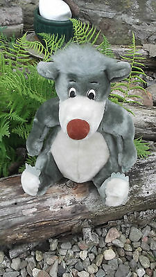 """Large BALOO Soft Toy Plush (12"""") in Sitting Pose The Disney Store Excellent Cond"""