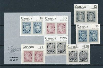 [72289] Canada stamp on stamp good set + sheet Very Fine MNH stamps
