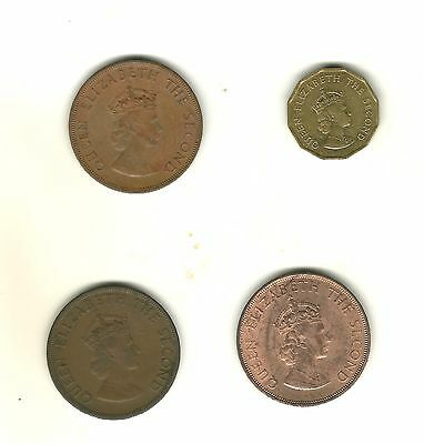 Jersey One Twelth X3 & One Fourth Of A Shilling  Four Coins