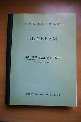 Sunbeam Rapier Series 3 To 4 And Alpine Series 1 To 5. Workshop Manual Unmarked