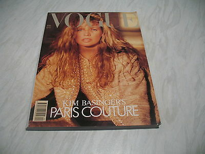 Vogue magazine # 1989 April UK issue Kim Basinger cover photo by Herb Ritts