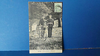 Jersey Channel Islands Postcard Cyclist Soldier & Military Musician Barre 1909