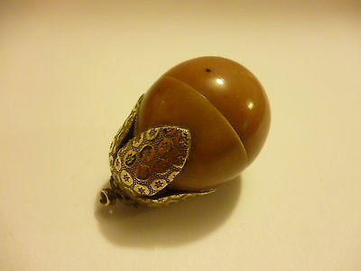Superb Antique Edwardian Ornate Pear Celluloid Early Plastic Thimble Case Holder