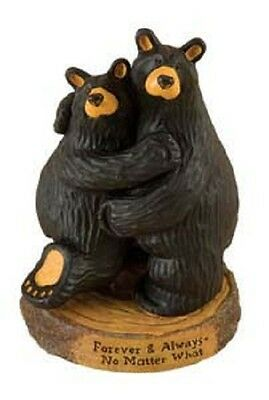 BearFoots Forever and Always Wedding Anniversary Black Bear Couple Figurine