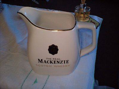 "Collectors China Water Jug Advertising ""mackenzie The Real Scotch Whisky"".wadepm"