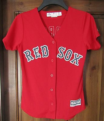 Majestic Red Sox shirt Pedroia 15 size on tag small app 32 in chest