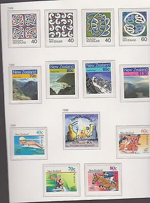 New Zealand Unmounted  Mint Stamps.   1988.  (13)