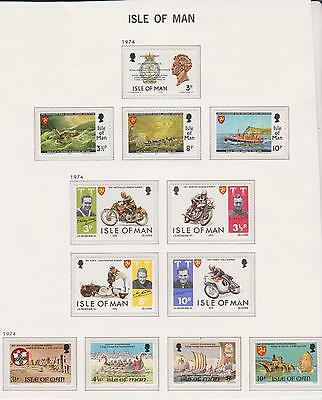 Isle Of Man 3 Sets   Unmounted  Mint Stamps.  1974
