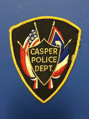 Casper  Wyoming Police  Shoulder Patch  Used