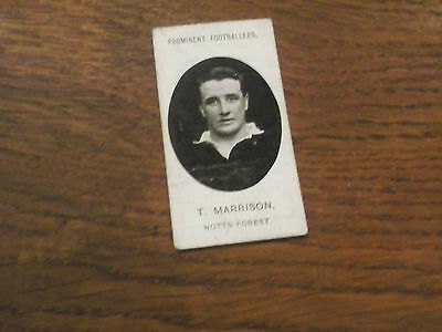 1907 Original Taddy Prominent Footballers Notts Forest Player  T Marrison