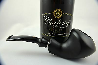 Chieftain's R. Wallenstein Balance Pfeife pipe pipa 9mm Filter schwarz matt