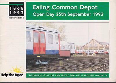 London Underground Open Day Booklet Ealing Common Depot Sep 1993