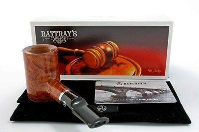 Rattray's Pfeife The Judge Stand up Poker hell braun pipe pipa