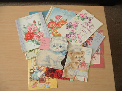 VINTAGE COLLECTABLE BIRTHDAY CARDS 1950/1960s
