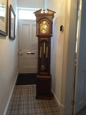 Oak Long case Grandfather Clock With Westminster Chimes