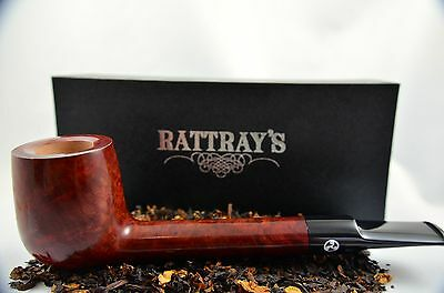 Rattray's Kyloe 66 Pfeife pipe pipa - 9mm Filter glatt braun Burgundy