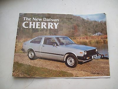 DATSUN CHERRY  A4 size, 12  sided colour brochure August 1982