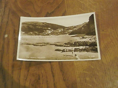 Old Real Photo Postcard Of The Beach Tresaith In Wales