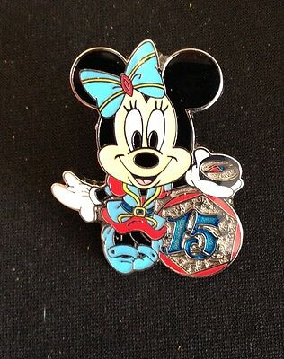 DISNEY TDS 15th ANNIVERSARY MINNIE MOUSE  PIN