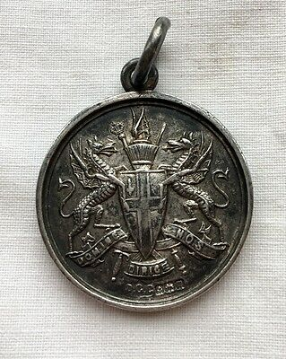 1911 Sterling Silver Sports Medal Fob City Of London Athletic Swimming Assoc