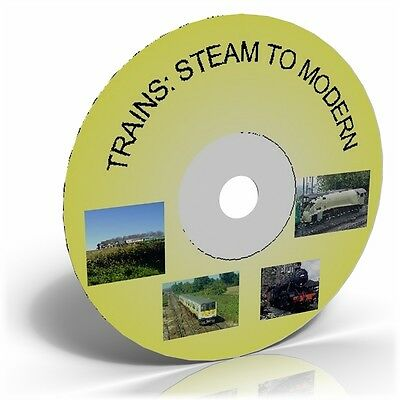 Trains: Steam to Modern, Railway Transport Images on CD