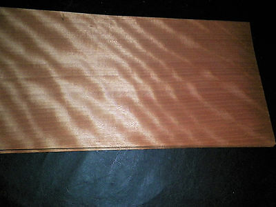 Gaboon raw wood veneer, 10 x 24 inches. 1/42nd Exotic Special           r4554-44