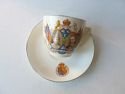 British Anchor Cup & Saucer of Silver Jubilee King George V 1910-1935