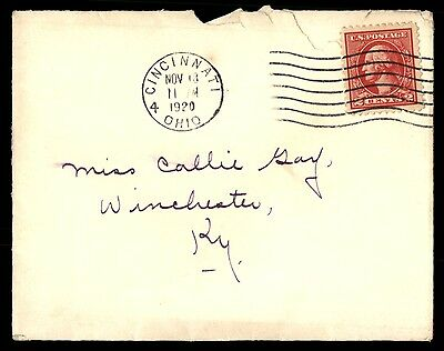 Cincinnati Oh Nov 13 1920 Single Franked Cover To Winchester Ky