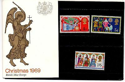 Selection of Christmas stamps from the 1960s