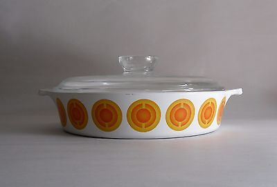Vintage 70s Dutch Pyrosil Oven-to-Table Casserole Dish with Lid. Kitchen/ Home
