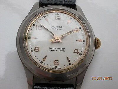 Vintage Dunhill  Mens Steel Watch