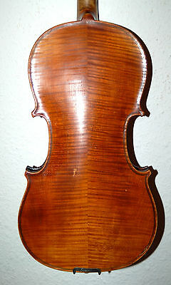 FINE ANTIQUE HANDMADE GERMAN  4/4  VIOLIN - over 100 years old