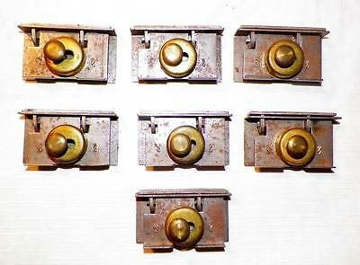 7 Antique Cupboard Locks Latches Iron with Keepers Hardware Work #4 Latch