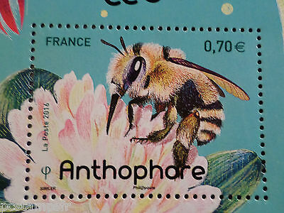 FRANCE 2016, TIMBRE INSECTES, ABEILLE ANTHOPHORE, BEE, neuf**, VF MNH STAMP