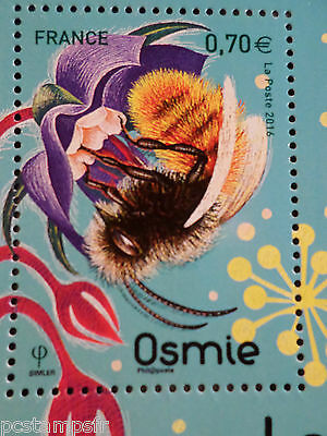 FRANCE 2016, TIMBRE INSECTES, ABEILLE OSMIE, BEE, neuf**, VF MNH STAMP