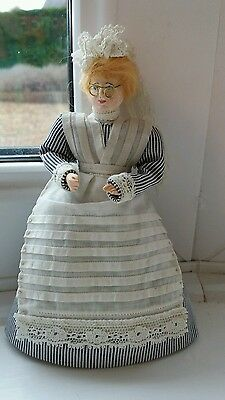Dolls House Miniature 1/12 Scale Vintage Handmade Nanny Doll