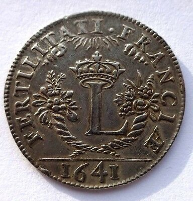 French 1641 Silver Token/Jetton VF+