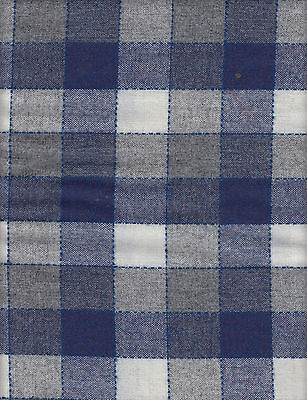 1 3/8 Yards Navy/white/gray Check Wool Rug Hooking ~Penny Rug ~Sewing Fabric