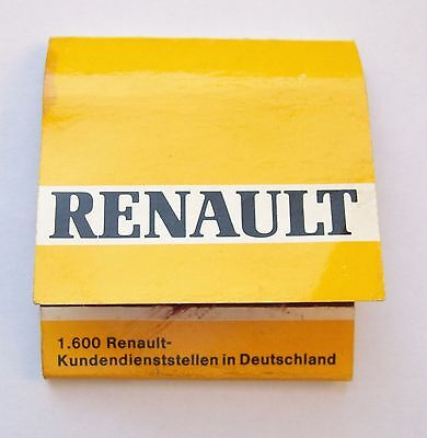 Vintage Box of Matches RENAULT 1970s Match Book Cover Germany