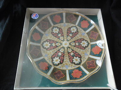 CHANCE GLASS FLUTED EDGED PLATE boxed